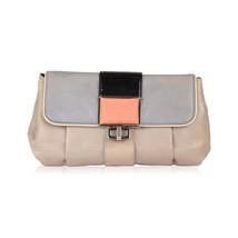 Authentic BALENCIAGA Gray Leather Cherche Midi Clutch Bag - $356.40