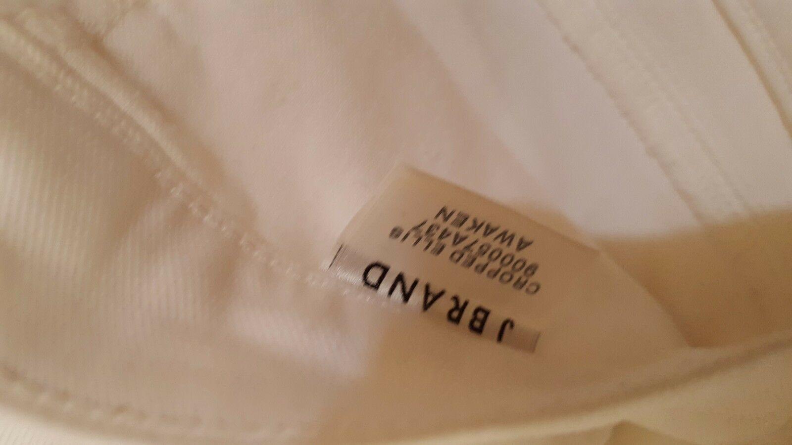 J Brand Jeans Women's Cropped  White Jeans sz 25 Denim  NICE!! #333 image 4