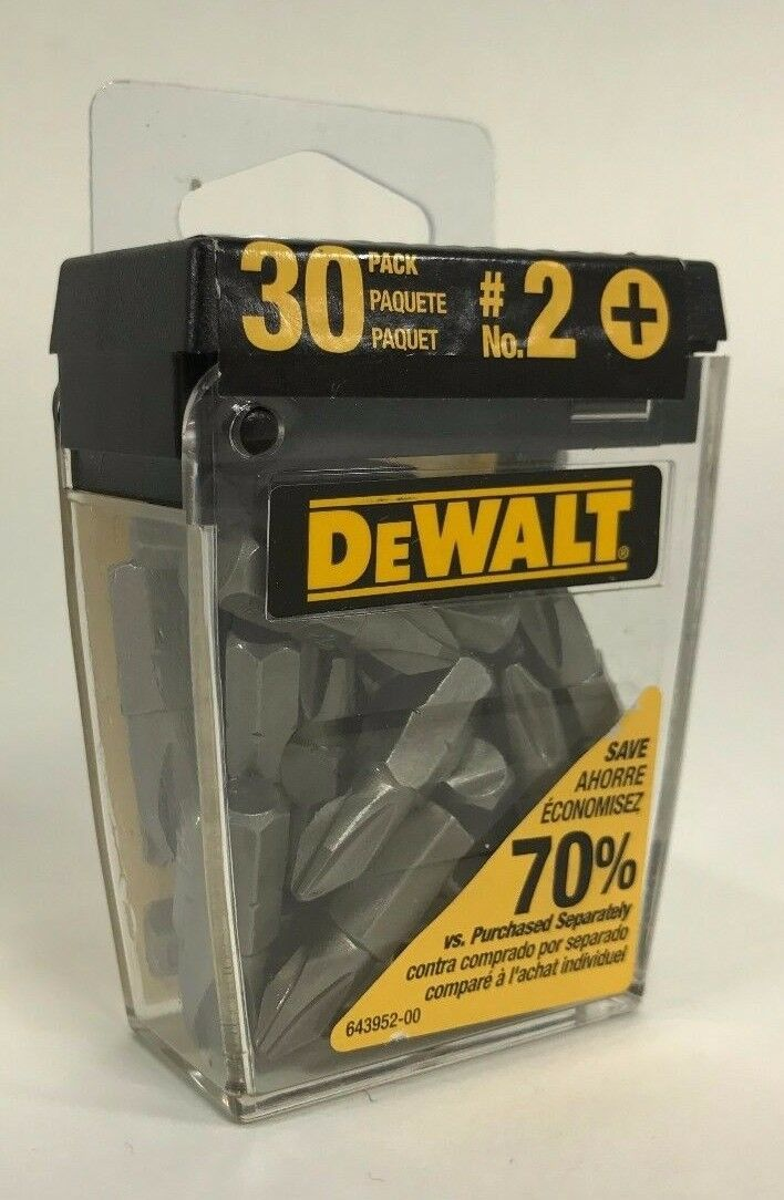 Primary image for DeWalt - DW2002B30 - #2 Phillips 1-Inch Bit Tips with Bit Box - 30-Pack