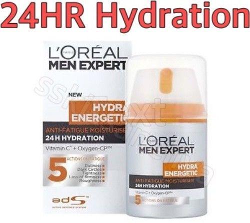 LOREAL MEN EXPERT HYDRA ENERGETIC ANTI-FATIGUE MOISTURISER 50ml 24HR Hydration - $18.80