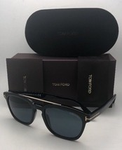 New TOM FORD Sunglasses HOLT TF 516 01A 54-19 145 Black & Gold w/ Blue G... - $419.99