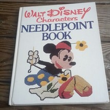 Walt Disney Characters Needlepoint Cross Stitch Pattern Book 1976 Vintage - $18.64