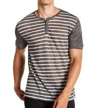 John Varvatos Collection Men's Short Sleeve Linen Striped Henley Shirt C... - $79.22