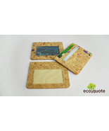 EcoQuote Eco Friendly Simple Card Holder Handmade Cork Material Great fo... - $14.50