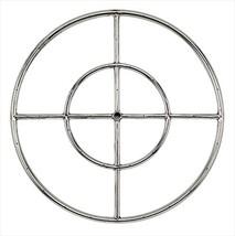 """Stainless Steel Fire Pit Burner Ring 24"""" Diameter Double Burner - $95.02"""