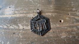 "Vintage Filigree 925 Sterling Silver Jewish Chai Pendant 1.5"" - £45.35 GBP"