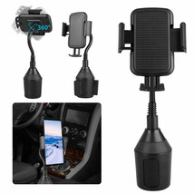 360 Degree Adjustable Car Cup Holder Stand Cradle Mount For iPhone X Sam... - $17.10
