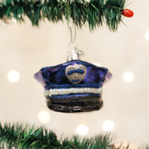 Old World Christmas Police Officer's Cap Glass Christmas Ornament 32138 - $12.88