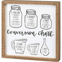 Primitives by Kathy Inset Box Sign - Conversion Chart, 12x12 inches, Black, Whit - $31.95