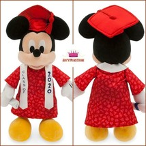 DISNEY PARKS MICKEY MOUSE GRADUATION PLUSH 2020 WITH SATIN RIBBON MORTAR... - $39.59
