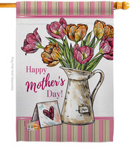 Mother Day Bouquet - Impressions Decorative House Flag H115148-BO - $40.97