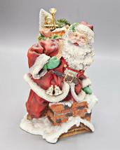 Dept 56 In The Spirit Santa Going Down Chimney Toys Christmas Vintage Sc... - $59.95