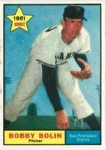 1961 Bobby Bolin #449 Rookie Baseball Card (Topps) - $4.48