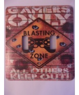 Game Room Metal Switch Plate Double Toggle - $10.50