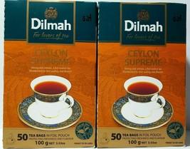 Dilmah supreme pure ceylon premium tea 50 tea bags 100g (3.53oz)... - $9.69