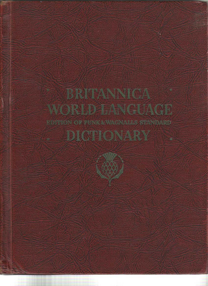 Primary image for Britannica World Language Dictionary Funk & Wagnalls Standard Vol 2 Part I-QtoZ