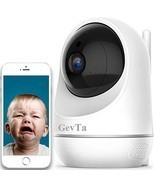 GevTa Baby Monitor, 1080P FHD Home WiFi Security Baby Camera Sound/Motion Detect - £54.35 GBP
