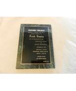 Frank Sinatra 40th Year Copper Invitation on Marble Slab Gala Caesars Pa... - $742.50