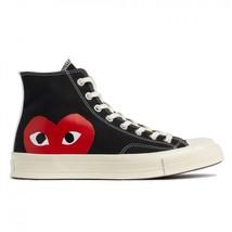 NIB*Converse X Comme de Garcons*Mens*Black high Top**5-12*Sneaker*Unisex - $199.00