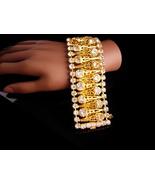 Fabulous wide rhinestone bracelet - Vintage filigree bracelet - BRILLIAN... - $165.00