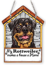 "My Rottweiler Sun Catcher Makes House A Home Dog House AMIA Brown 7"" Hig... - $25.73"