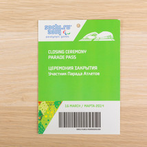 Sochi 2014 Paralympic Games Russia Opening Ceremony Parade Pass Ticket 1... - $28.42