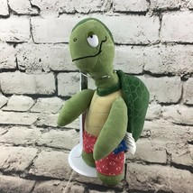 "Sea Life Tyler The Turtle Plush 11"" Green Stuffed Animal In Red Shorts Soft Toy - $9.89"