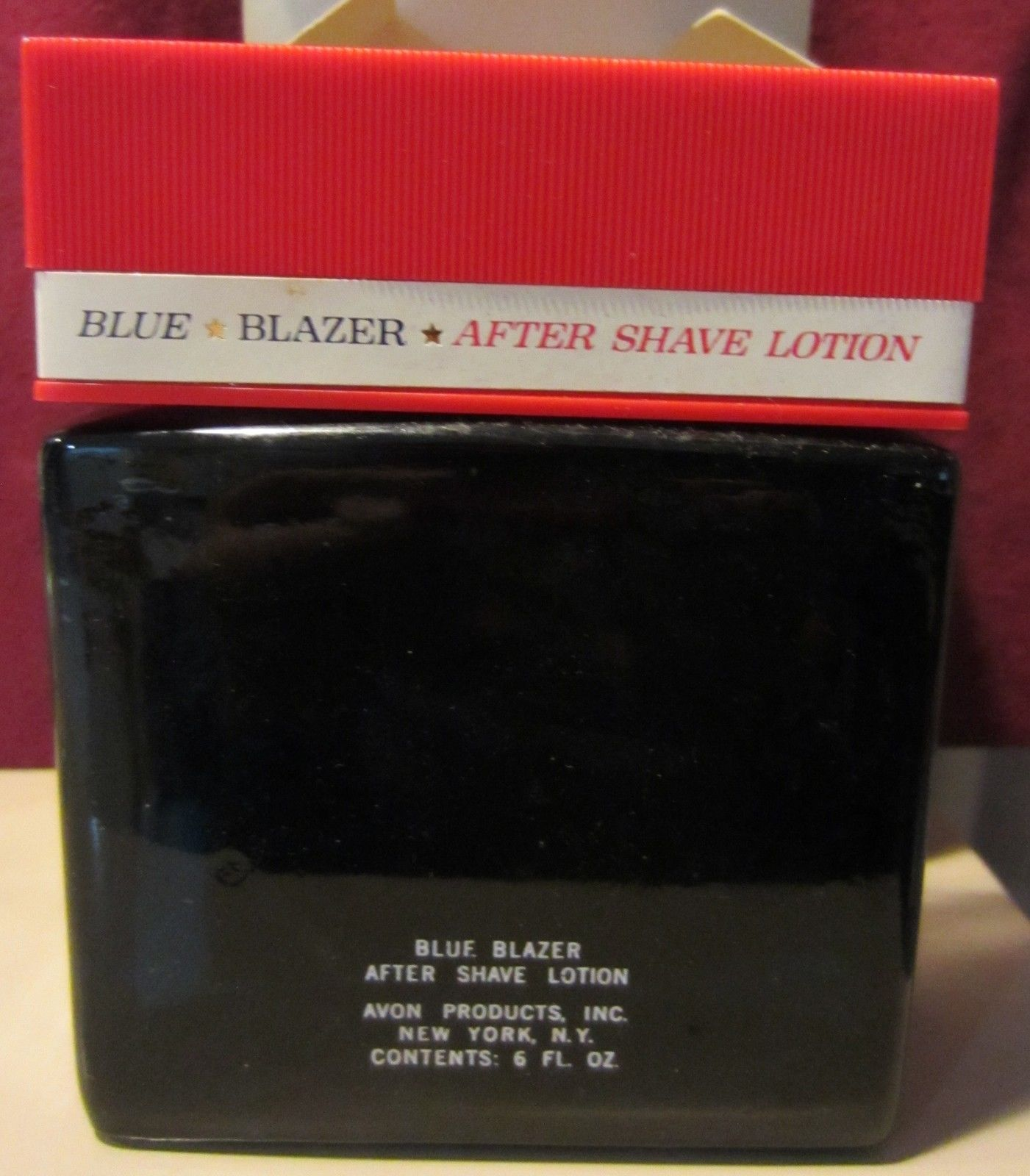 VINTAGE AVON  - BLUE BLAZER AFTER SHAVE LOTION  6 FL OZ