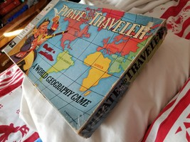 Vintage Pirate and Traveler Board Game Word Geography Milton Bradley Com... - $26.91