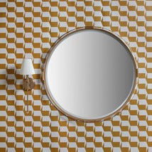 Z Gallerie Aria Mid Modern Glam Round Acrylic & Gold Wall Mirror - $395.01