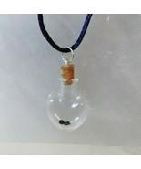 Necklace Gemstone in a Bottle Sapphire 2 Stones Birthstone Wish Bottle N... - $29.99