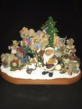 "The Boyds Bears Christmas Sleigh Lighted Large Display by Danbury Mint 13""W - $79.20"