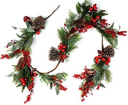 CraftMore Pine and Pomegranate Christmas Garland - $77.89