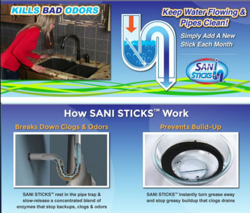 Magic Sticks Drain Cleaner and Deodorizer (48 Pack) For Kitchens, Bathrooms ETC