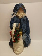 """20"""" Santa Claus Hand Made Blue with white satchell - $197.99"""