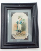 Framed Antique W. Evans Corsets Bustles Hoop Skirts Litho Advertising Tr... - $17.77