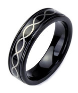 Black Tungsten Carbide Infinity Wedding Band Ring - Price for one ring -   - $39.99