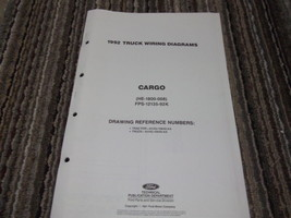 1992 Ford CARGO Wiring Diagrams Electrical Manual Fold Out OEM Factory - $13.86