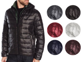 Tommy Hilfiger Men's Premium Insulated Packable Hooded Puffer Nylon Jacket