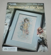Summer at the Sea Leisure Arts 2566 Cross Stitch Pattern Girl Dolls Ocean - $9.41
