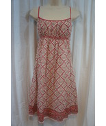 Studio M Dress Sz L Pink Salmon Multi Color Floral Casual Party Summer S... - €55,45 EUR