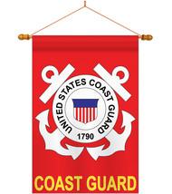 Coast Guard - Applique Decorative Wood Dowel with String House Flag Set ... - $53.97