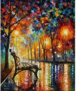 Leonid Afremov Original Image From Painting The Loneliness Of Autumn Old... - $83.30