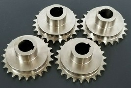 LOT OF 4 GENERIC 402A072 SPROCKETS 3/4'' IN. BORE 2-7/8'' IN. OD 23-TEETH