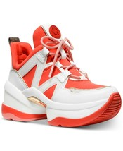 Michael Kors MK Women's Olympia Trainer Scuba Dad Sneaker Shoes Sea Coral
