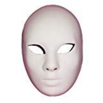 "BLANK MASK TO DECORATE UNPAINTED BLANK ""VOLTO GREZZA"" VENETIAN MASQUERAD... - $24.95"