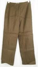 Talbots Linen Silk Blend Lined Brown Dress Pants Size 2 Petite (26 x 28) - $14.50