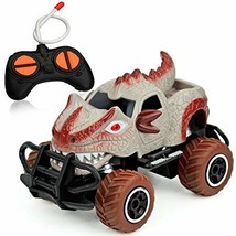 Vileafy RC Monster Truck 1:43 Scale, Great Remote Control Dinosaur Jeep Car for