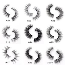 Visofree Eyelashes 3D Mink Eyelashes Crossing Mink Lashes Hand Made Full... - $11.99