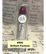 NICKA K NEW YORK NK LIPSTICK #906 BRILLIANT FUCHSIA  SEMI MATTE FINISH - $1.48